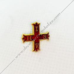 PIN021-pins-épinglette-maconnique-IVHS-templier-croix-templiere-cbcs-rite-regime-ecossais-rectifie-rer-cadeaux-fm