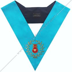 SRF 013 - Hospitalier, sautoir d'officier du rite français groussier, acacia, décors maçonniques, bijoux, franc maçonnerie