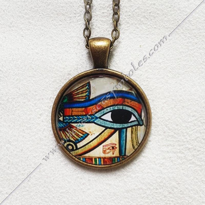 MSC300-collier-pendentif-maconnique-bijoux-oeil-horus-oudjat-vieille-egyptien-memphis-set-osiris-decors-fm-symbole