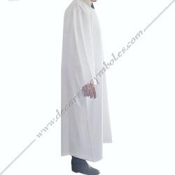RHS140-robe-aube-maconnique-blanche-purification-homme-femme-rite-francais-2eme-ordre-rf-decors-objets-articles-fm