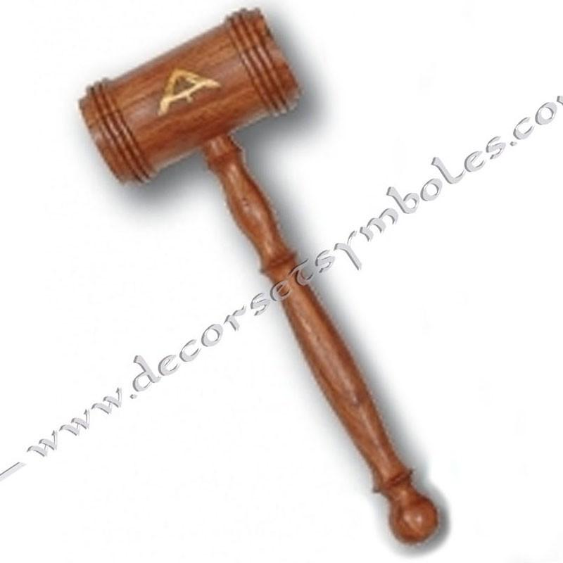OUT011-maillet-maconnique-bois-incrustation-symbole-officier-1er-surveillant-decors-outils-accessoires-loge-fm