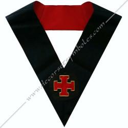 HRA117-sautoir-cordon-maconnique-officier-18eme-degre-reaa-chevalier-gardien-tour-couvreur-atelier-perfection-fm