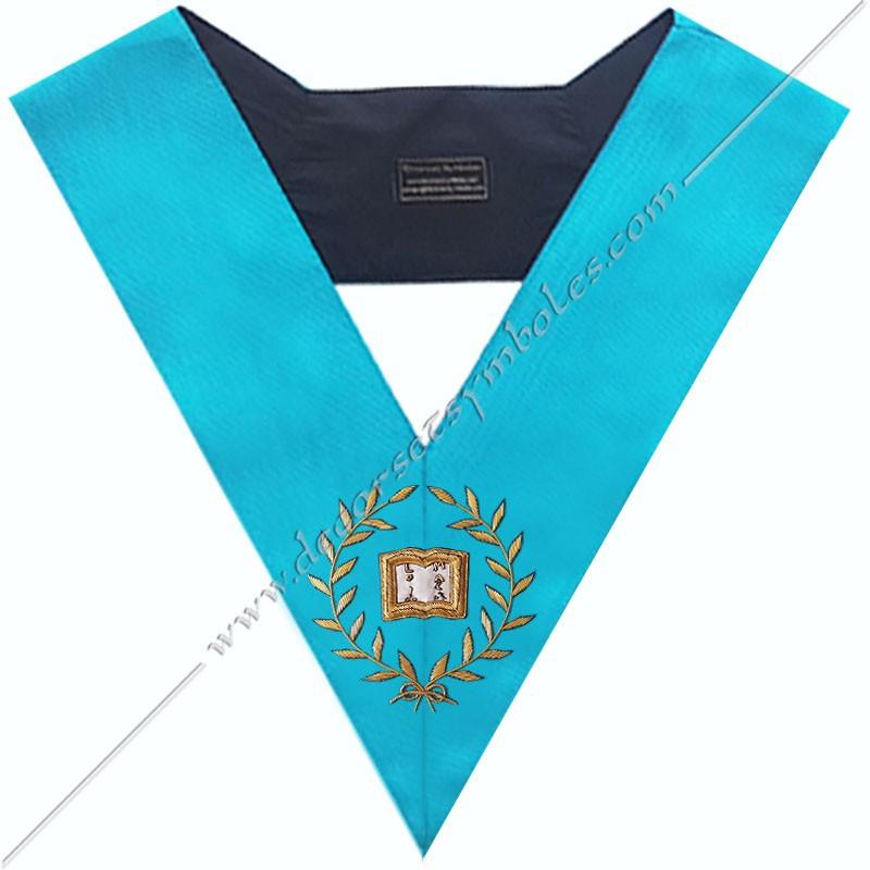 SRF 018 - Orateur, sautoir d'officier du rite français groussier, acacia, décors maçonniques, bijoux, franc maçonnerie