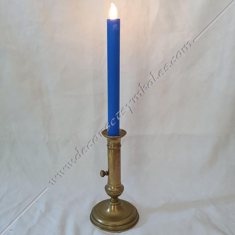 ACC091-bougies-chandelles-maconnique-bleues-led-flammes-allumages-lampes-lumieres-decors-outils-loges-fm