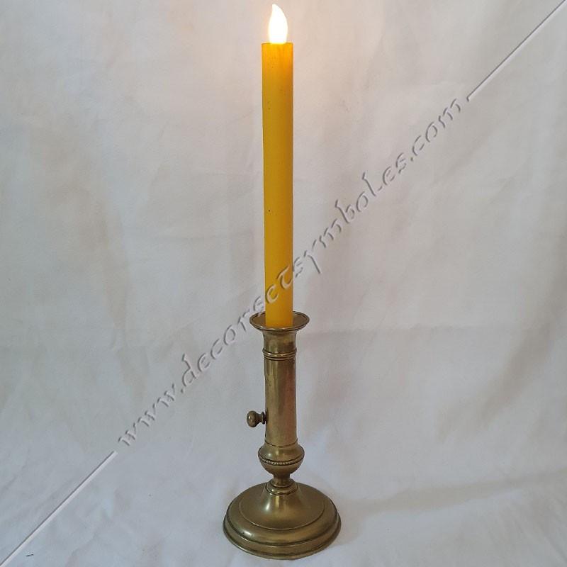 ACC092-bougies-chandelles-maconnique-jaunes-led-flammes-allumages-lampes-lumieres-decors-outils-loges-fm