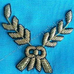 Cordon de Maitre, REAA, équerre, compas. Décors franc-maconnerie, bijoux, maçonniques, broderies acacia or, bijoux