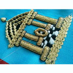 Cordon de Maitre du REAA, symboles brodés, cadeaux prestiges, temple, pavé mosaïque, Décors maçonniques, bijoux