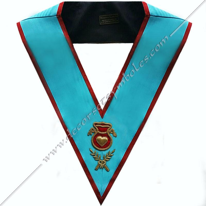 SRA 003 - Hospitalier, sautoir d'officier du REAA, acacia, décors maçonniques, bijoux, franc maçonnerie, bijoux, or
