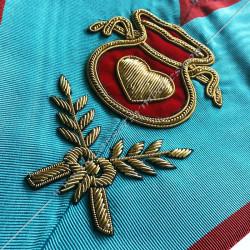 Hospitalier, sautoir d'officier du REAA, acacia, décors maçonniques, bijoux, franc maçonnerie, loges bleues