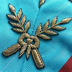 Maitre des banquets, sautoir d'officier du REAA, acacia, décors maçonniques, bijoux, franc maçonnerie, or, doré