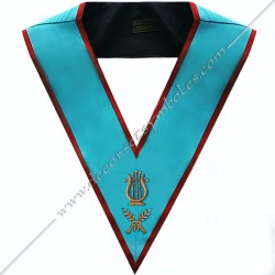 SRA 071 - Maitres de Musique, sautoir d'officier du REAA, acacia, décors maçonniques, bijoux, franc maçonnerie, bijoux, or