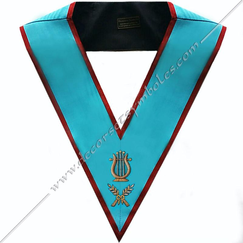 SRA071-sautoir-cordons-maconnique-maitre-musique-officier-REAA-decors-franc-maconnerie-bijoux-rite-ecossais-ancien-fm