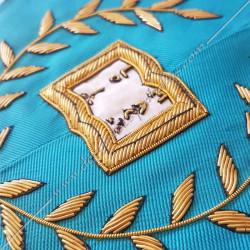 Orateur, sautoir du REAA décors maçonniques, broderies, bijoux or, acacia, franc maçonnerie, loi mac