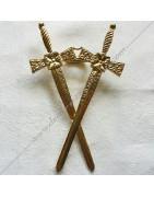 Bijoux maçonniques de Vénérable, Maitre et Officiers du Régime Ecossais Rectifié