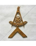 Masonic jewels of Worshipfull, Master or Officer of French Traditionnal Rite