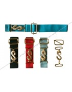 Masonic belts with gold or silver snake buckle and clasp