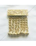 Pendeloques, pampilles maçonniques à 7 chaines dorées ou argentées