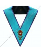 Masonic Regalia Officers collars, sashes of Misraim Rite