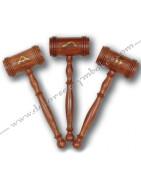 Maillets maconniques en bois pour cérémonies, avec ou sans symboles d'officier