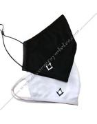 Masques maconniques noirs ou blanc, en coton lavables ou jetables