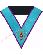 Sautoirs, cordons maçonniques des Officiers du Rite Memphis Misraim