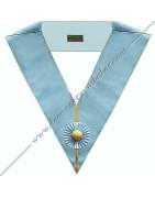 Sautoirs des Officiers du Rite Ecossais Rectifié en ruban moiré bleu