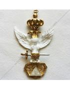 Bijoux maçonniques pour Présidents ou Officiers des chapitres ou ateliers supérieurs